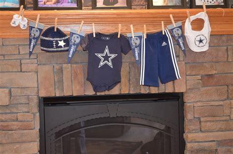 Dallas Cowboys Decoration Ideas by Dallas Cowboys Clothes Line Baby Shower Ideas