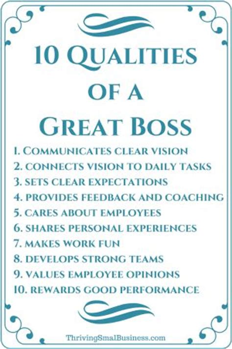 how to be a good boss 10 qualities of a good boss