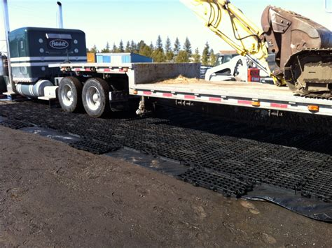Mud Mats For Heavy Equipment by Geoterra 174 Gto Construction Mats Presto Geosystems