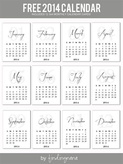 25 best ideas about 2014 calendar printable on pinterest
