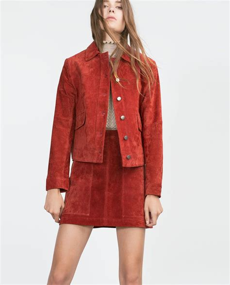 Set Zara suede jacket co ord sets zara united states fall