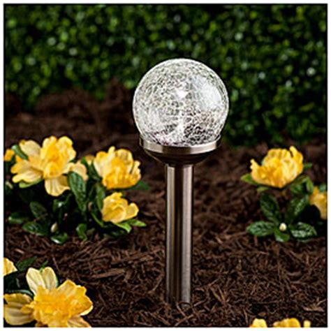 wilson fisher solar lights view wilson fisher 174 grab go crackle glass orb