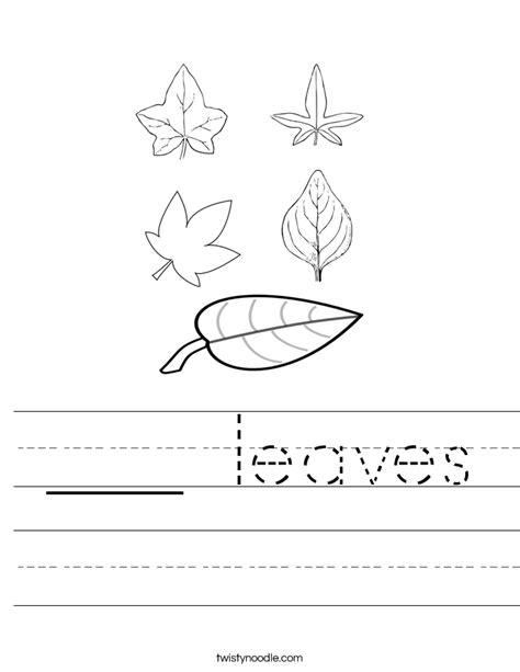 Leaves Worksheet by Leaves Worksheet Twisty Noodle