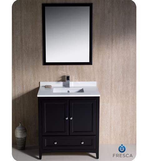 Traditional Bathroom Vanities And Cabinets 30 Quot Fresca Oxford Fvn2030es Traditional Bathroom Vanity Espresso Bathroom Vanities