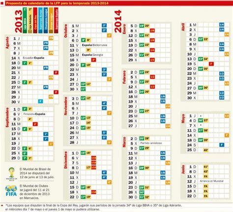 Calendario Lfp Propuesta Calendario De La Lfp Para La Temporada 2013