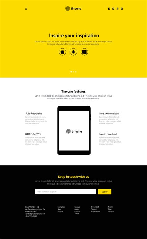 one page layout template tinyone psd one page template free download