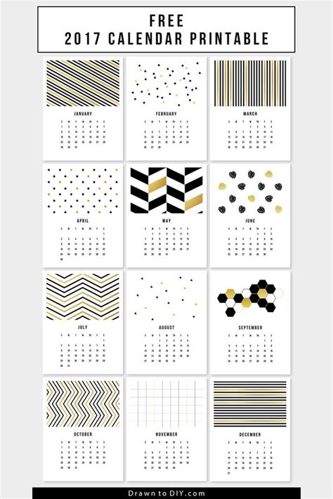 38 best diy printable 2017 calendars images on 20 free printable calendars for 2017 hongkiat