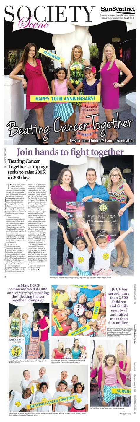 Muvdi Mba President Ceo June Children S Cancer Foundation by Beating Cancer Together Newsletter December