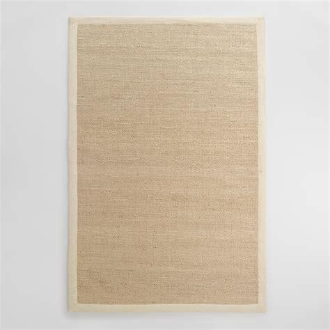 linen rug linen bordered chunky weave jute area rug world market