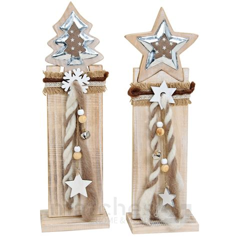 holz weihnachtsdeko holzpfahl mit tannenbaum - Weihnachtsdeko Mit Holz