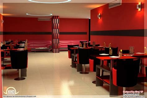Red Toned Restaurant Interior Designs Kerala Home Design Restaurant Interior Design