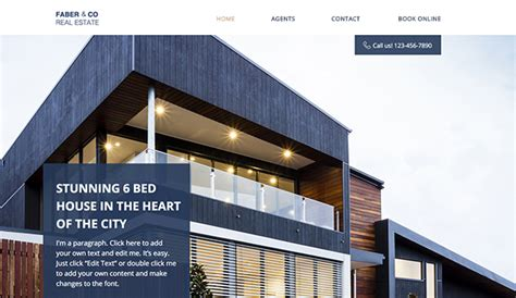 real estate website templates business wix