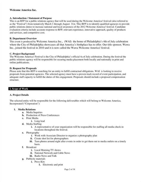 pr rfp template 10 relations templates free pdf doc