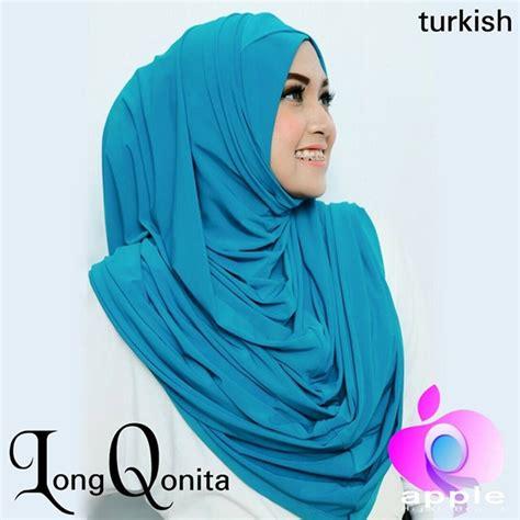 Jilbab Instan Qonita jilbab instan qonita trend terbaru harga murah biru