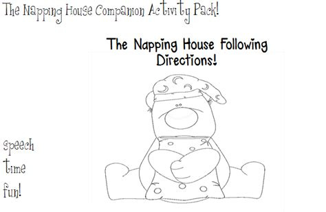 coloring pages for the napping house the napping house companion activity pack