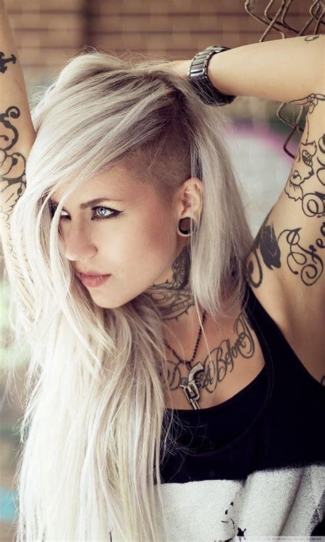 iphone 4s tattoo girl wallpaper blonde girl tattoos 4k hd desktop wallpaper for 4k ultra