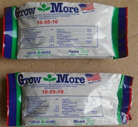 Pupuk Growmore Daun pupuk growmore bunga 10 55 10 100 gram jualbenihmurah