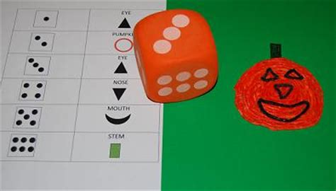 roll a jack o lantern printable wikki stix pumpkin activities for learning and play