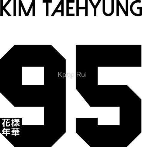 kim taehyung korean name pegatinas 171 kim taehyung v real name bts member jersey