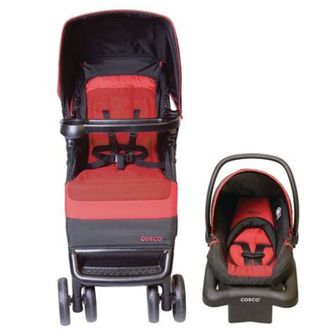 cosco light n comfy travel system cosco juvenile simple fold bright flame travel system