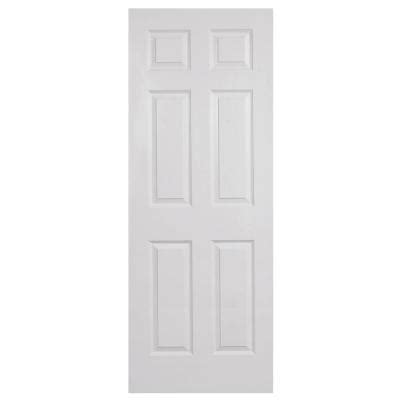 home depot white interior doors steves sons 24 in x 80 in 6 panel textured primed