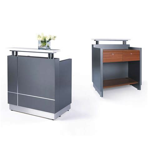 Mini Desk by Genie Mini White Gloss Reception Desk Fast Office Furniture