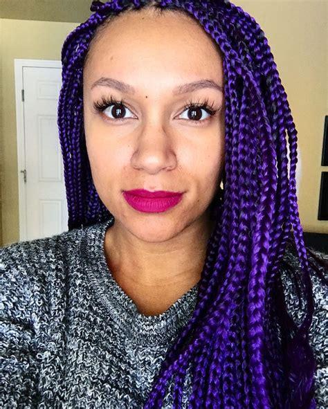 Exles Of Box Braids | 9 perfect exles of purple box braids hairstylesout