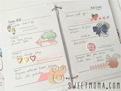 6 printable blog planners for 2016 simply sweet home un planner para 2016 sweet m 246 ma blog scrapbooking en
