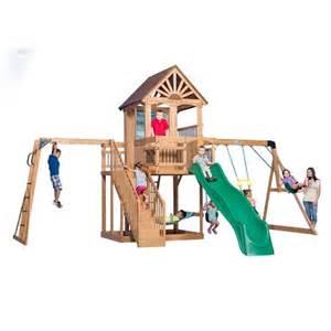 backyard discovery oceanview wooden swing set academy