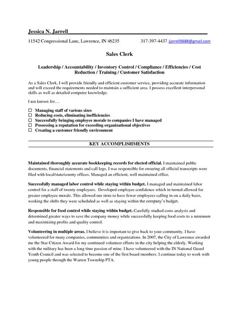 wonderful sle cashier resume sle resume for cashier clerk najmlaemah
