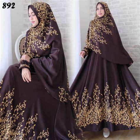 Baju Gamis Maxmara Kekinian Syari Azeta Set By Kalila gamis syari maxmara bunga c892 baju muslim cantik