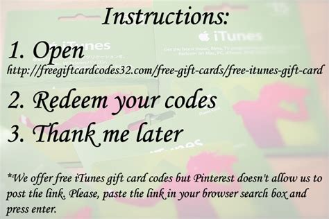 How To Get Itunes Gift Card Code Free - free roblox gift card codes no survey 2015
