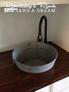 Hometalk making a galvanized tub into a sink
