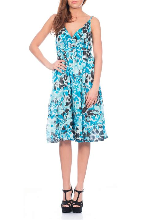Print Midi Sundress womens midi dress floral tropical print sundress