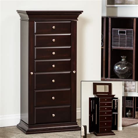 jewelry armoire with lock and key jewelry armoire with lock and key eightdrawer large