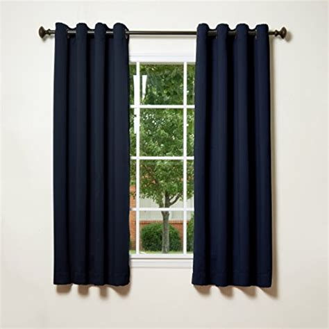 best home fashion thermal insulated blackout curtains antique bronze grommet top navy 52 quot w
