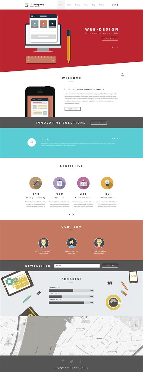 layout slider wordpress information technology wordpress theme