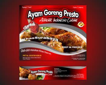 design label makanan sribu label design desain label untuk makanan ayam goreng