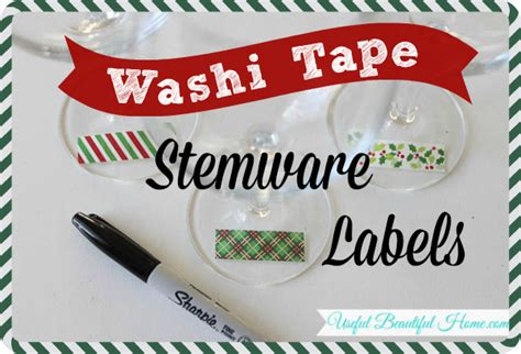 uses of washi tape washi tape stemware labels