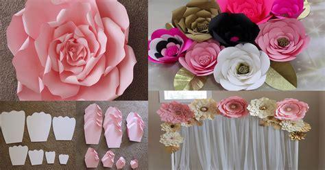 como hacer las flores de alcatras en una carpeta de gancho c 243 mo hacer flores de papel gigantes para eventos dale