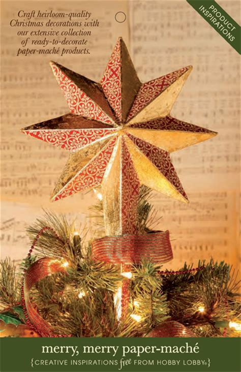 Hobby Lobby Craft Paper - hobbylobby projects merry merry paper mache
