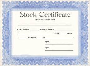 Free Stock Certificate Template search results for sle of stock certificate