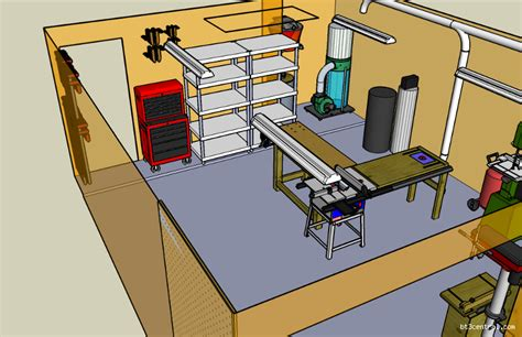 sketchup workshop layout more sketchup on the garage workshop input wanted the