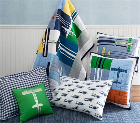 Pottery Barn Airplane Crib Bedding Airplane Icon Quilted Bedding Pottery Barn