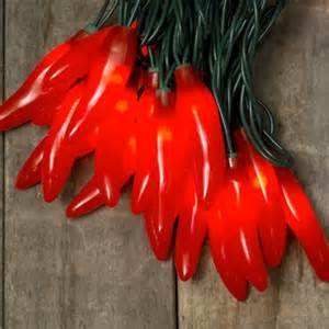 Chili Pepper Outdoor Lights Chili Pepper String Lights In Indoor Outdoor 35 Bulbs