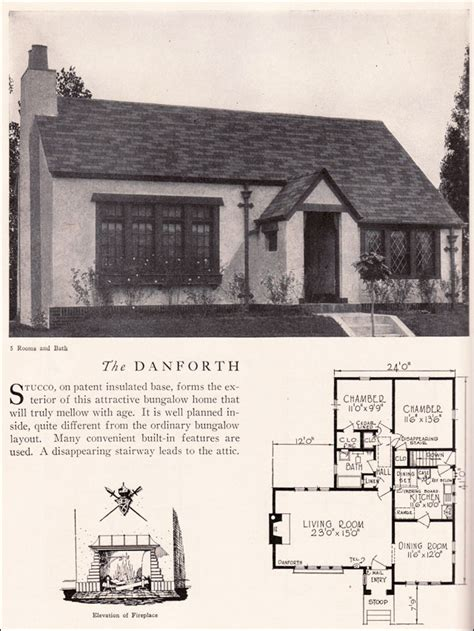 danforth house plan vintage american architecture