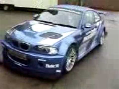 real nfs most wanted bmw m3 gtr youtube