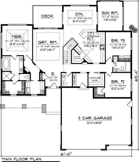 Pin By Peggy Makurat On House Plans Furnishings Pinterest Ranch House Plans With Sunroom