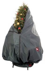 upright christmas tree storage bag with stand in christmas