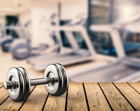 metal dumbbell  gym background stock image image